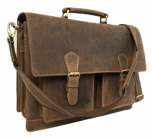Kattee Men/'s Crazy Horse Leather Briefcase Messenger Laptop Handbag