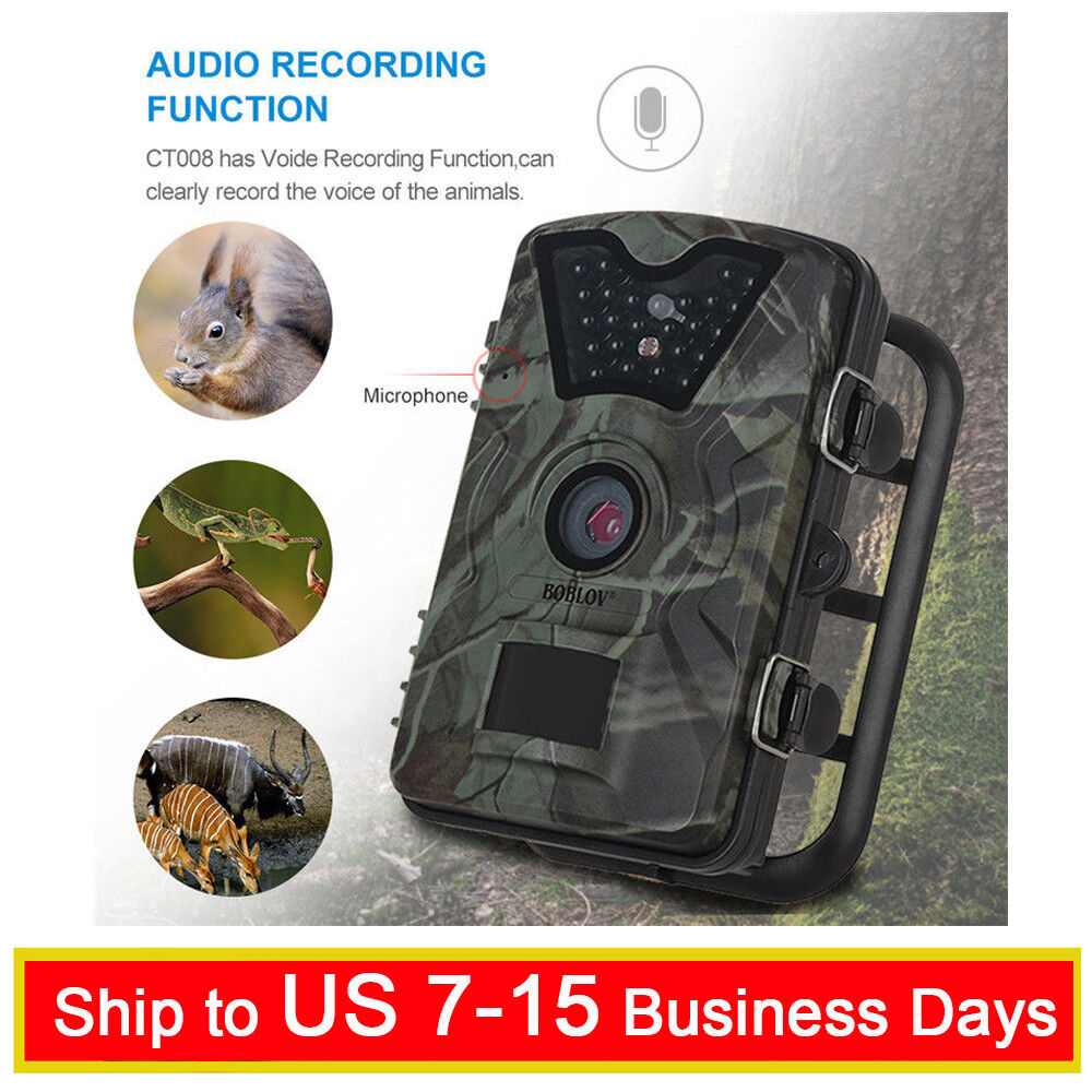 Boblov CT008 12MP 1080P Trail Game Scounting Hunting Wildlife Camera Camcorder