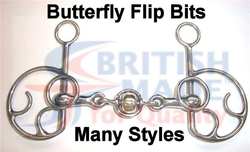 BUTTERFLY FLIP Cavallo Bit British Made 12 stili prodotti su ordinazione di alta qualità