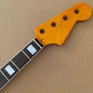 Big headstock Maple 21 Frets Vintage guitar neck Replacement rosewood Fingerboard for ST style yellow gloss