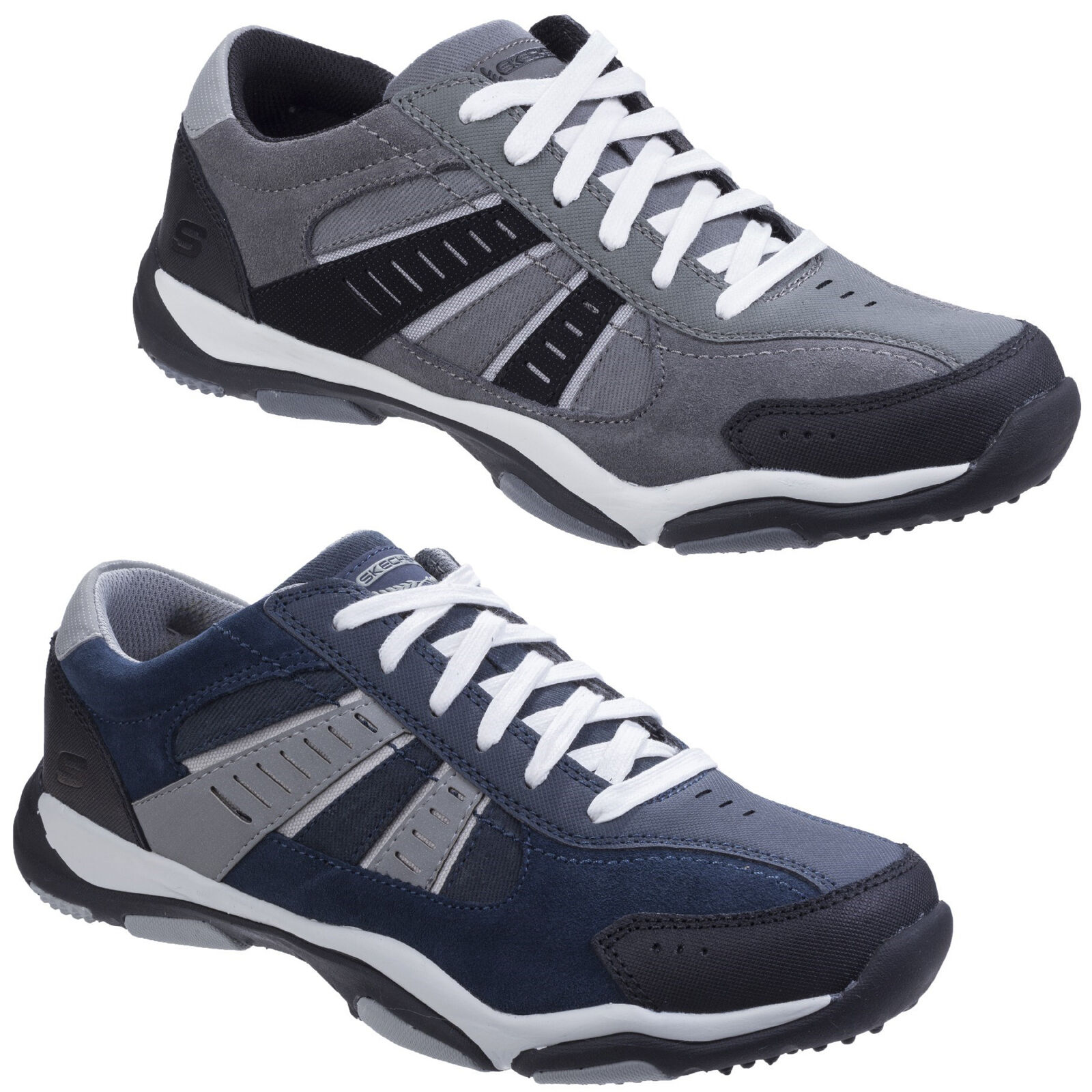 Skechers Larson Sotes  Uomo Memory Foam Sports Fashion Trainers Schuhes UK6-12
