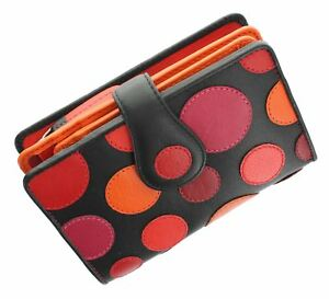 Lily Collection With Pad Saturn Tab Leather Purse Berry P1 Closure very Polka Visconti Ladies Ynvwfxv