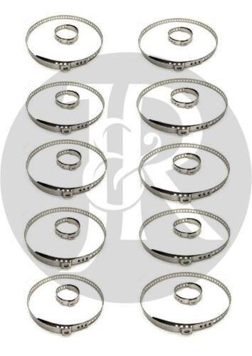 AUSTIN 1000 SERIES 10X DRIVE SHAFT CV JOINT BOOT KIT STAINLESS STEEL CLAMP CLIP