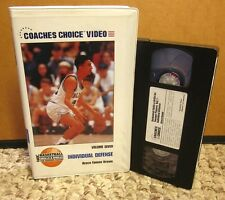 COACHES CHOICE Individual Defense basketball training Brue Brown VHS tips drills