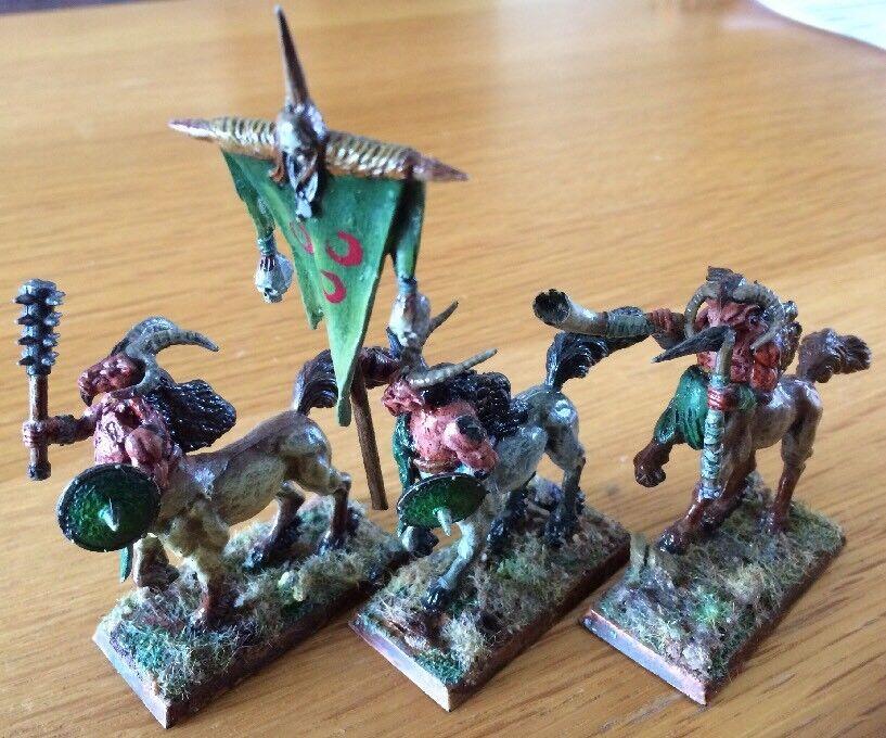 Warhammer AOS Chaos Beastmen Centigors Lot de 3 METAL Miniatures Épuisé RARE