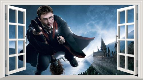 Harry Potter Hogwarts Castle 3D Wall Smash Wall Art Sticker multi size V117*