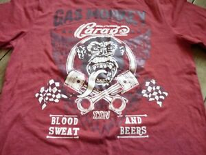 New-with-Tags-Unisex-Medium-Red-T-shirt-Cargo-Blood-Sweat-and-Beers