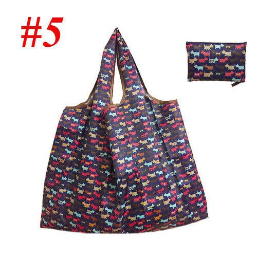 US Eco Shopping Travel Shoulder Bag Oxford Tote Handbag Folding Reusable Cartoon