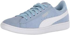 62c38e1fbd297 PUMA Women s Vikky Sneaker Cerulean Blue-Puma White Suede Leather ...