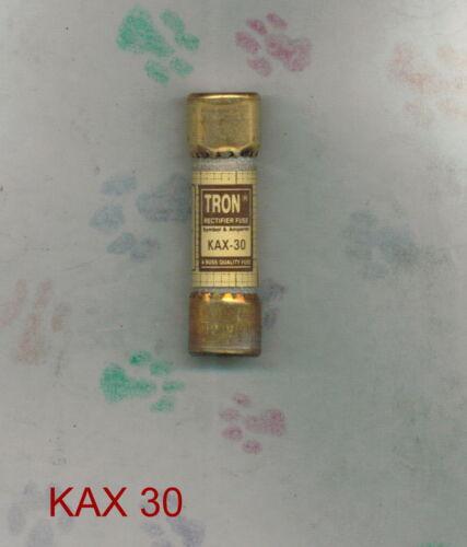 TRON KAX30  FUSE KAX 30 BUSSMANN 250 VOLT 30 AMP