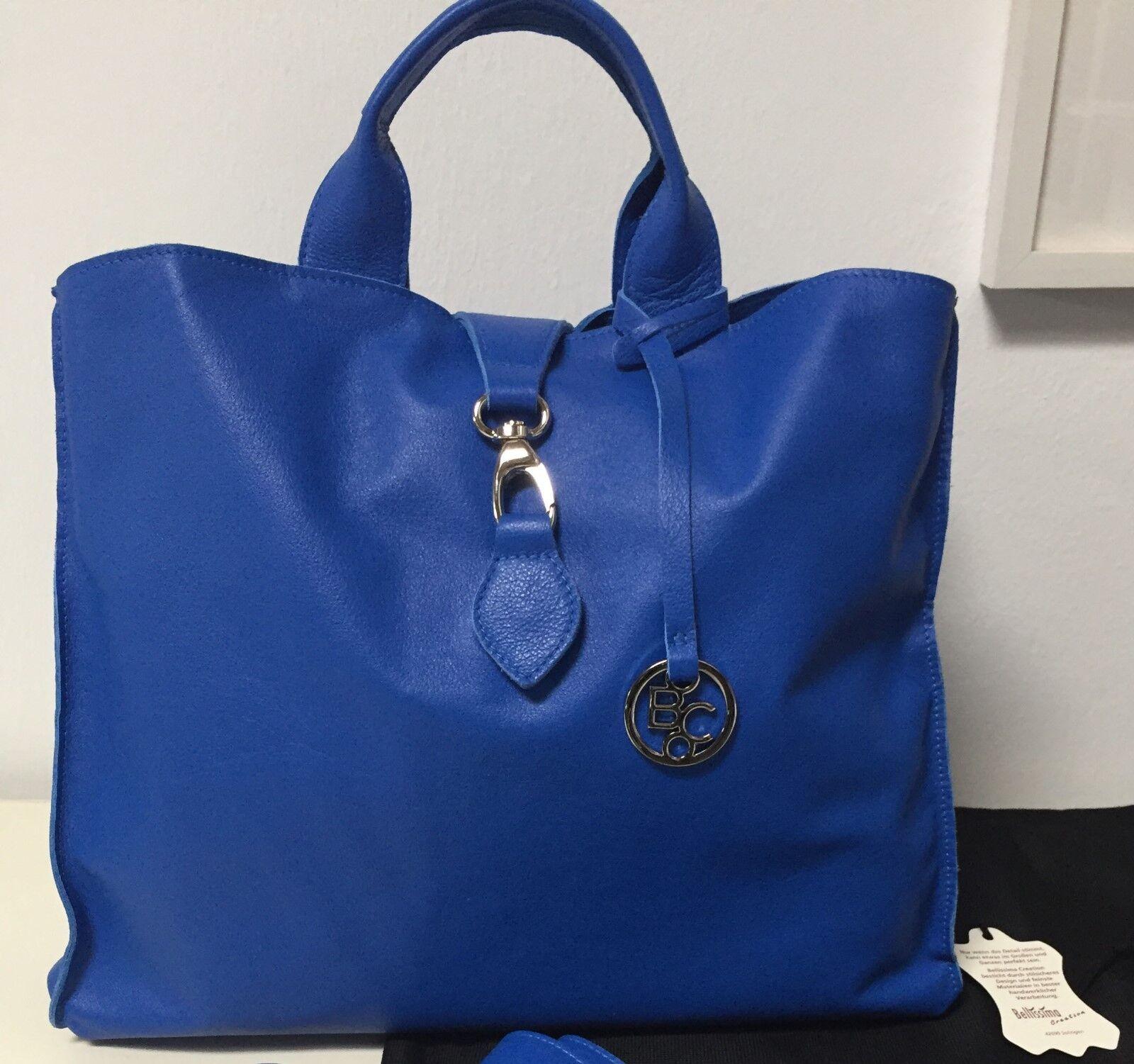 Bellissima Creation Handtasche, echtes Leder, himmelblau, NEU        Authentisch    Online Kaufen    Lass unsere Waren in die Welt gehen  2fc4ac