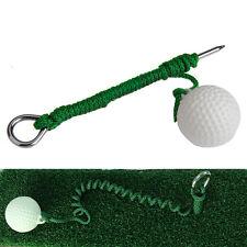 Rope Steel Driving Range Golf Ball Hit Shot Training Practice Aid Swing Trainer