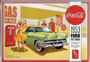 AMT Coca-Cola 1953 '53 Ford Victoria Avec / Distributeur Automatique À 1/25 1146