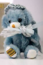 VINTAGE MERRYTHOUGHT MOHAIR CHEEKY BLUE ANGEL BEAR (10)