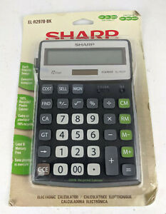 Sharp EL-R297B-BK Recycled Series Electronic Calculator Cost Sell Margin