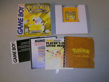 POKEMON YELLOW (Nintendo Game Boy Color GBC) Complete