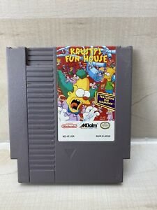 Krusty's Fun House Nintendo Nes Cleaned, Tested, Working & Authentic