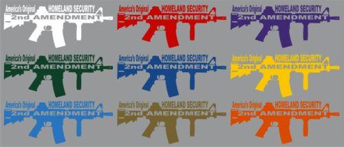 2nd Amendment Rifle Machine Gun Car Truck Window Wall Laptop Vinyl Decal Sticker