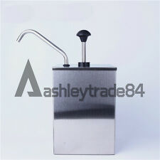 1 Bucket Sauce Dispenser Pump New Squeeze Condiment Dispensing Stainless Steel