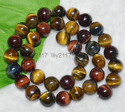 8mm African Roar Natural Tiger/'s Eye Gemstone  Round Loose Beads 15inch AAA