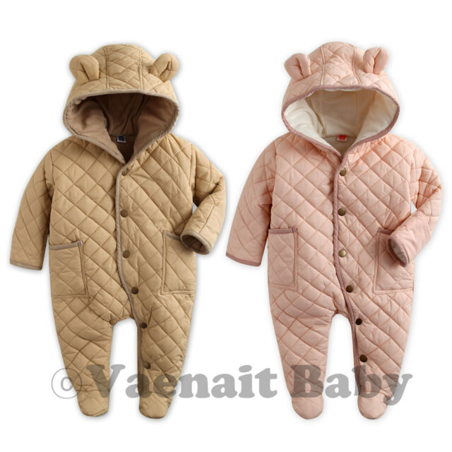 """NWT Vaenait Baby Girl Hoodie Snowsuit Padded Jumpsuit All in one""""Pastel Padding"""""""
