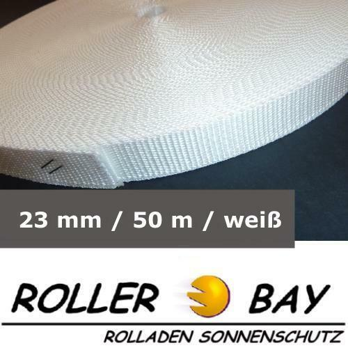 50 M Maxi volet roulant ceinture blanc rolladengurt sangle 23 mm de largeur rideau roulant