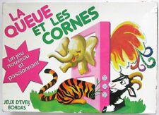 """Jeu d'éveil Bordas """"La queue et les cornes"""" Année 1976"""