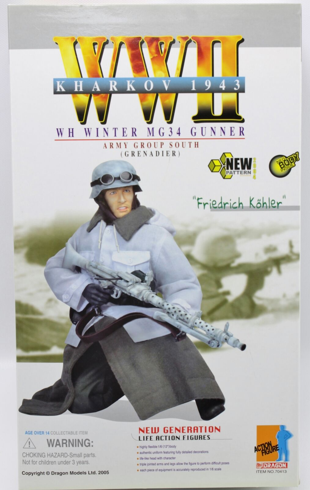 WWII WH Winter Winter Winter MG34 Gunner Army Group South Grenadier Kharkov Dragon 12  cifra 2ef0db