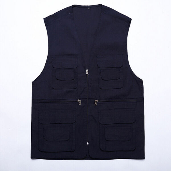 Mens Sleeveless Multi Pocket Zip Hunting Fishing Shooting Outdoor waistcoat Vest