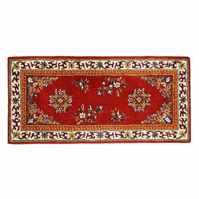 Minuteman Blue Oriental Rectangular Wool Hearth Rug For Sale Online Ebay