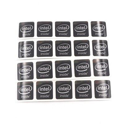 100x  Sticker Badge Ultrabook Inspired by intel black 13*30mm ST037 original new