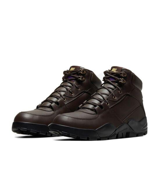 NIKE New Rhyodomo Brown Leather Boots Men's Size 6.5 Women's Size 8 BQ5239200