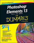 Photoshop Elements 13 All-in-One For Dummies by Ted Padova, Barbara Obermeier (Paperback, 2014)