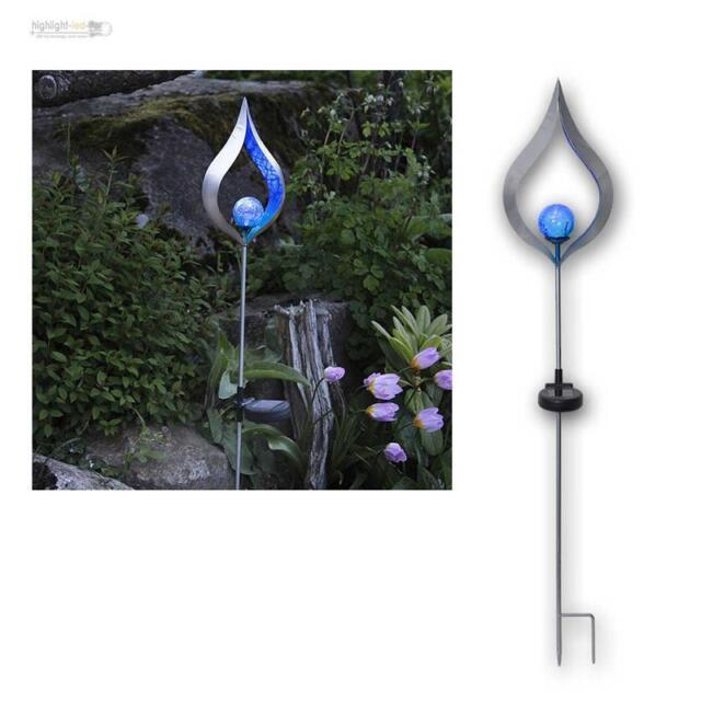 Led Solar Light Rod Flame Silver Lamp Garden Stake Decoration Quality