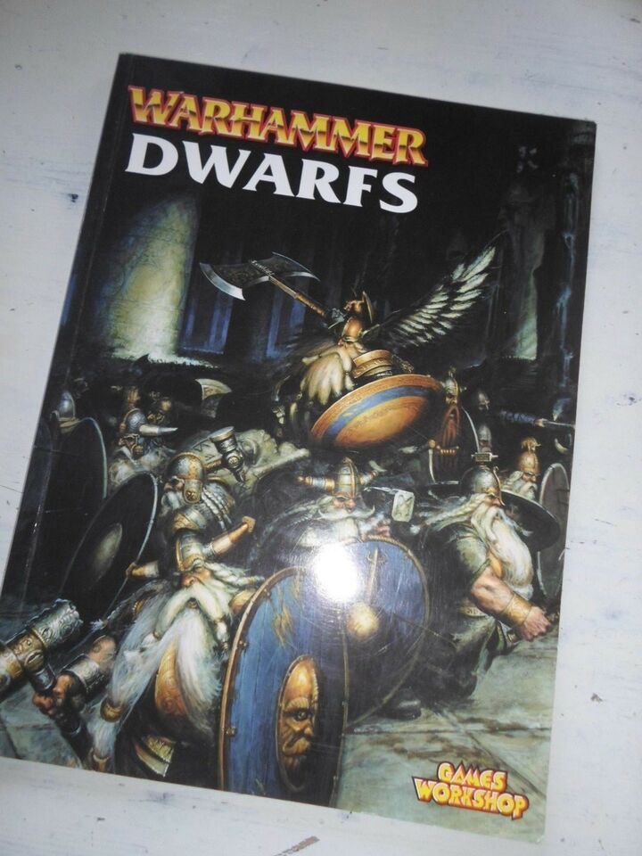 Bøger og blade, DWARFS Codex Army Book #1 Warhammer Fantasy