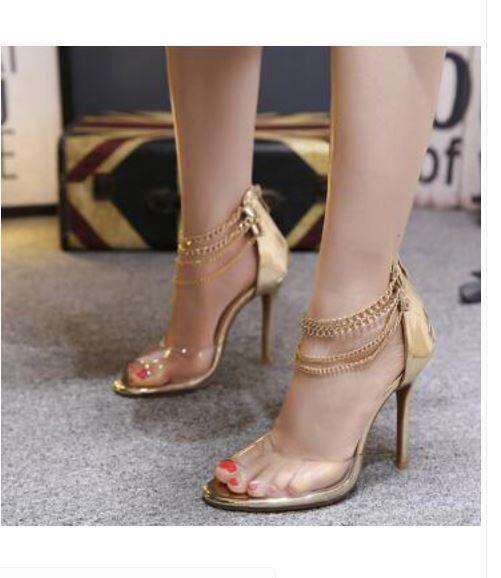 Sandali stiletto eleganti sabot 11 beige oro simil simil simil pelle eleganti CW885 16db5d