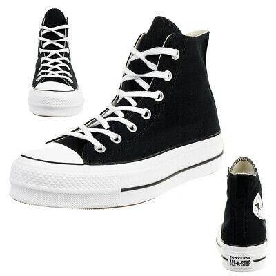 Converse C Taylor All Star LIFT HI Chuck plateau Sneaker canvas black 560845C | eBay