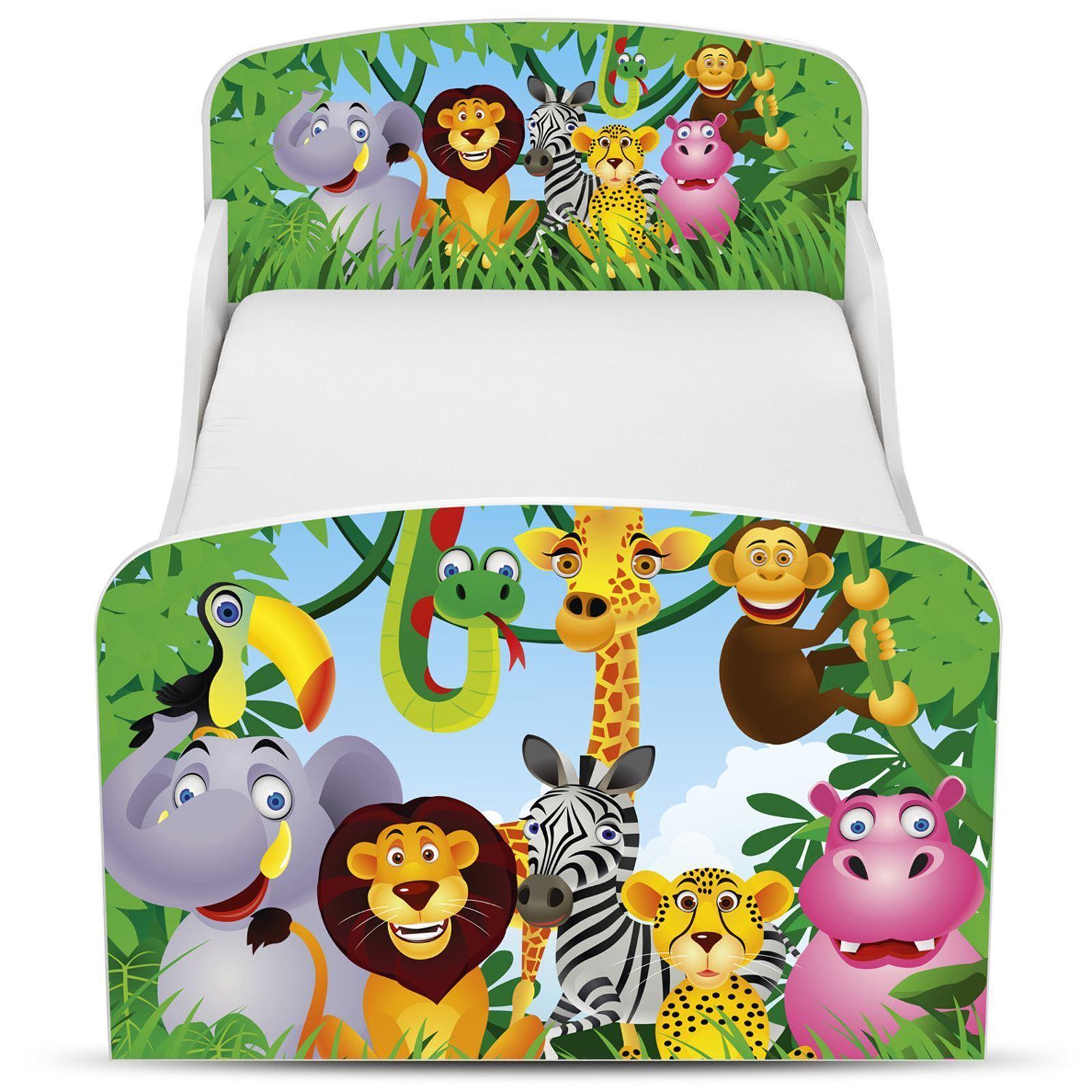 Jungle MDF Tout-petit lit avec de rangement dessous de lit NEUF Animaux
