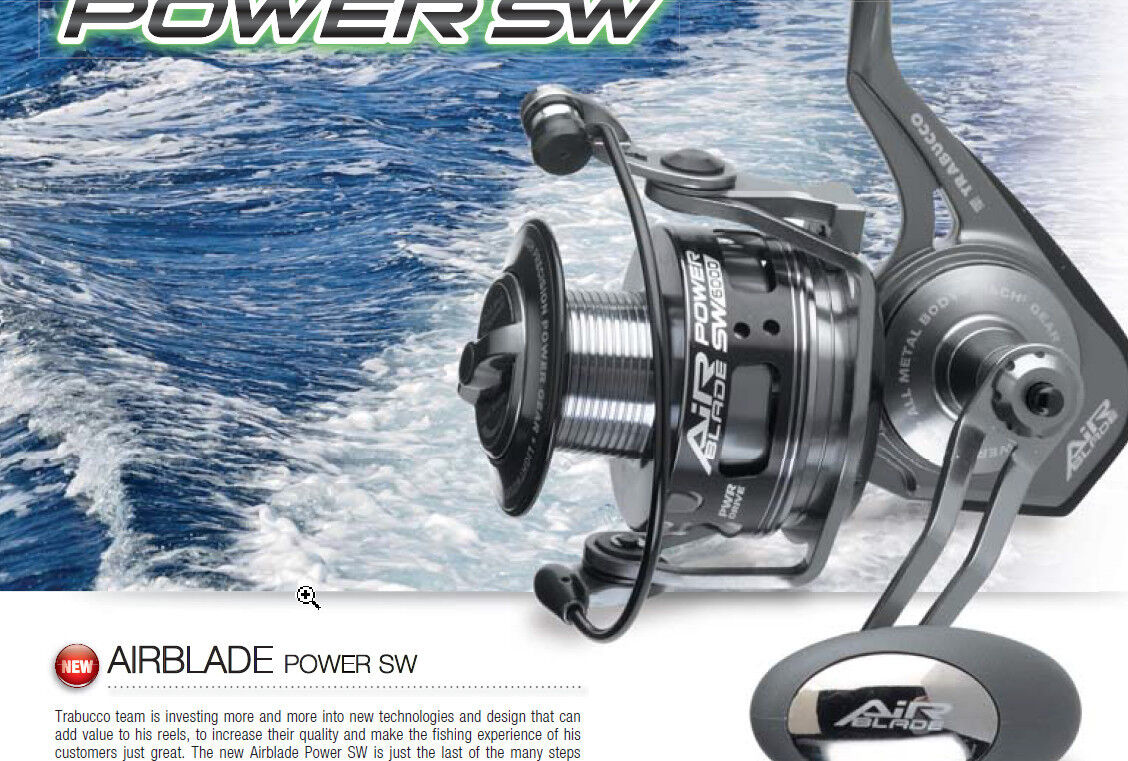 Trabucco sw Airblade power sw Trabucco  4500 and 6000  7kg drag 500g   spinning and surf 93aef2