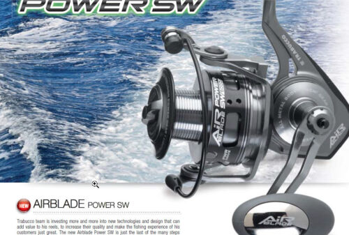 Trabucco Airblade power sw  4500 and 6000  7kg drag 500g   spinning and surf