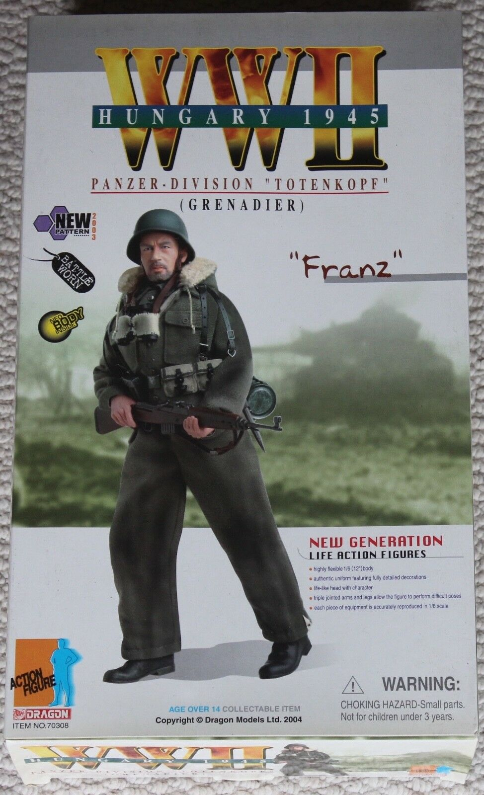 Dragon Action figure ww11 allemand Franz 1 6 12  70308 DID Cyber Hot toy