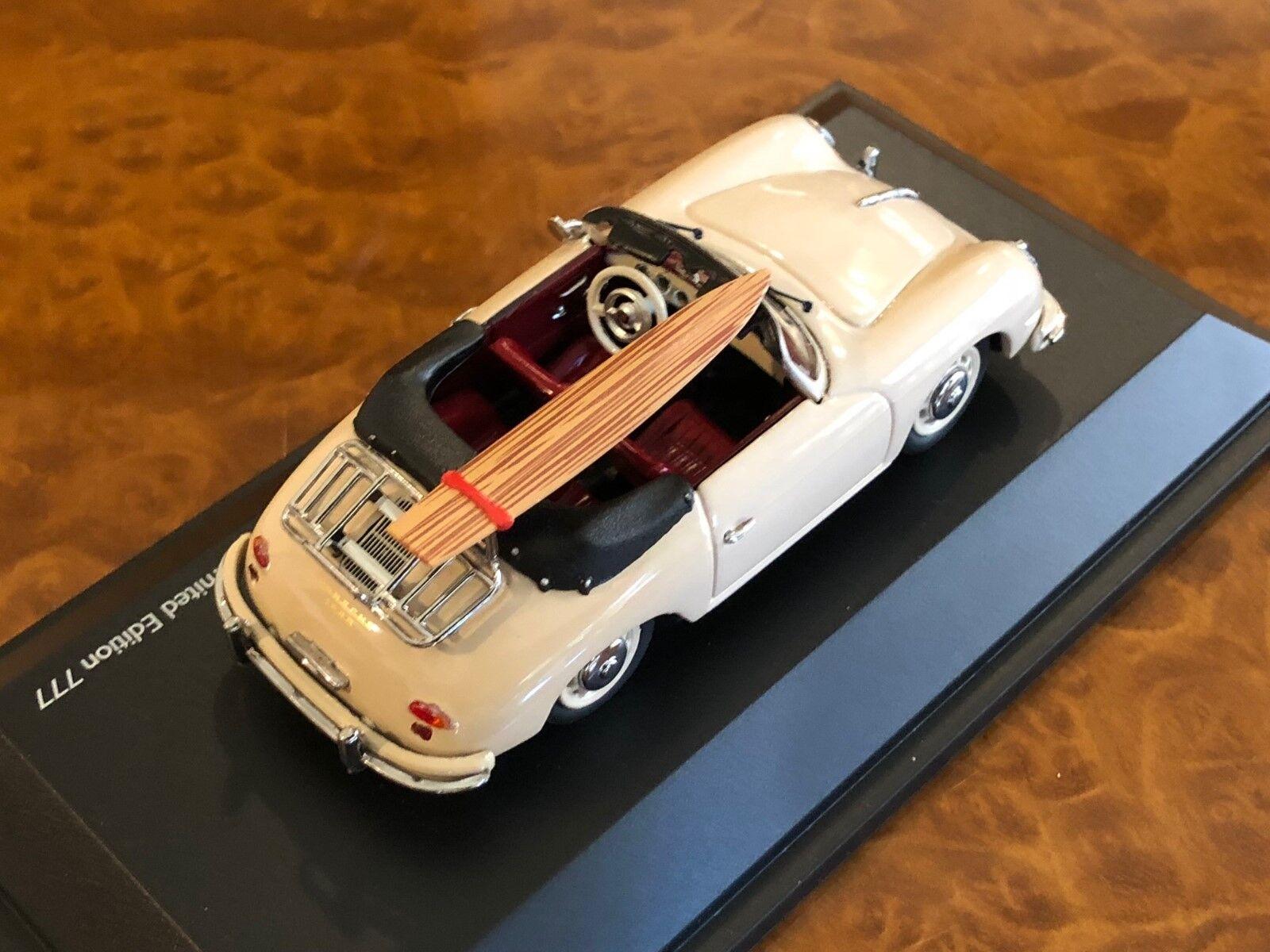 Schuco 1 43 Porsche 356 ein Holz Surfbrett 70th Anniversary Limitierte Auflage