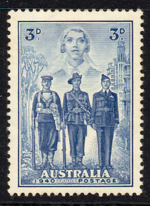 Australia-Stamp-3d-Stamp-1940-Mounted-Mint-382