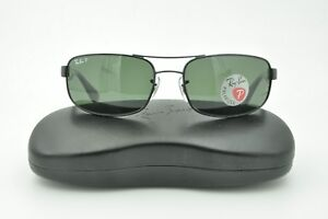 4dbce6d2eda3b Ray Ban RB 3445 Sunglasses 002 58 Black   Green Polarized Lenses ...