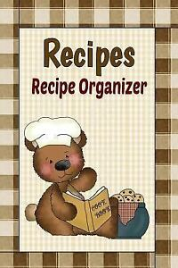 Blank recipe book with dividers