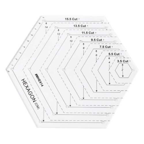 Hexagon Quilting Ruler Quilting Patchwork Plastic Template DIY Sewing Tools