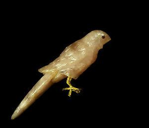 Oiseau Sculpté En Quartz Rose Ancient Pink Quartz Sculpture Of Bird Assurer IndéFiniment Une Apparence Nouvelle