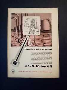 Pubblicita-originale-Shell-Motor-Oil-anni-039-50-da-rivista-in-passepartout