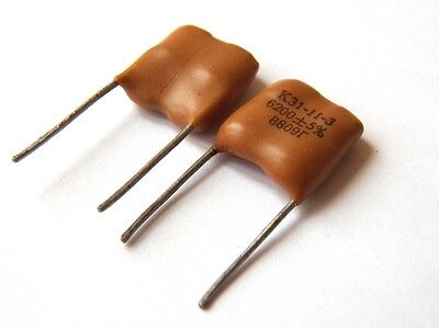 20 pcs 9100pF 500V 5/% Silver Mica Audio Capacitors K31-11 USSR NOS