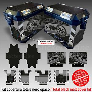 Kit completo adesivi valigie bmw 1250 GS adventure lc modello TRIPLE BLACK 2021